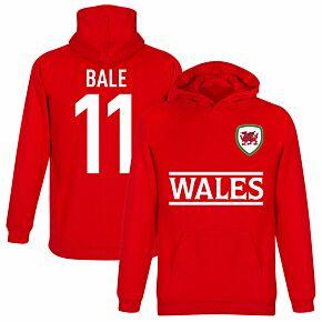 Wales Bale 11 Team KIDS Hoodie - Red