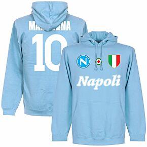 Napoli Maradona 10 Team Hoodie  - Sky