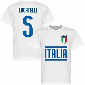 Italy Locatelli 5 Team T-shirt - White