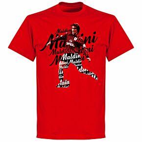 Maldini Script T-shirt - Red