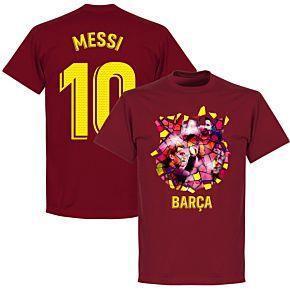 Barcelona Messi 10 Gaudi Photo Tee - Chilli
