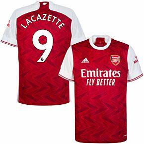 20-21 Arsenal Home Shirt + Lacazette 9