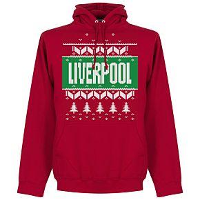 Liverpool Christmas Hoodie - Red
