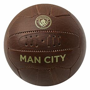 Man City Faux Leather Football (Size 5)