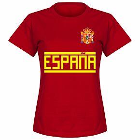 Spain Team Womens Tee - Red