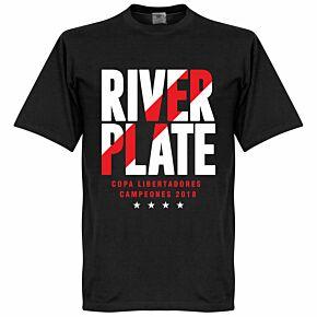 River Plate 2018 Copa Libertadores Winners Tee - Black