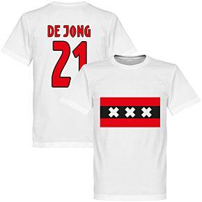 Amsterdam Team De Jong 21 Tee - White