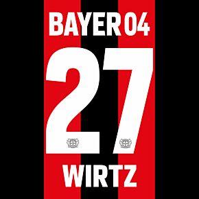 Wirtz 27 (Official Printing) - 21-22 Bayer Leverkusen Home
