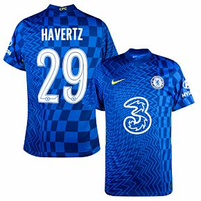 21-22 Chelsea Home Shirt + Havertz 29 (Official Cup Printing)