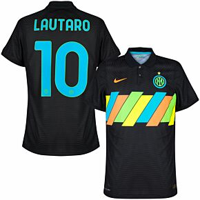 21-22 Inter Milan Dri-Fit ADV Match 3rd Shirt - No Sponsor + Lautaro 10 (Official Printing)