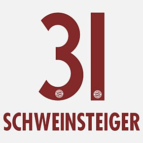 Schweinsteiger 31 - Bayern Munich Away KIDS 2014 / 2015 Official Name & Number
