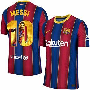 20-21 Barcelona Vapor Match Home Shirt + Messi 10 (Gallery)