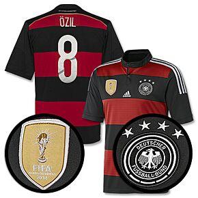 Germany Away Boys Özil 4 Star Jersey 2014 / 2015