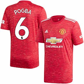 20-21 Man Utd Home Shirt + Pogba 6 (Premier League)