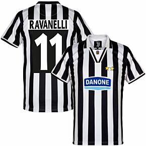 Copa Juventus Home Retro Shirt  1994-1995 + Ravanelli 11