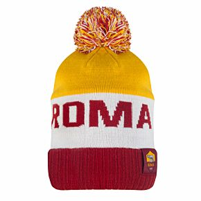 20-21 AS Roma Pom Benaie Hat - Red/Yellow/White