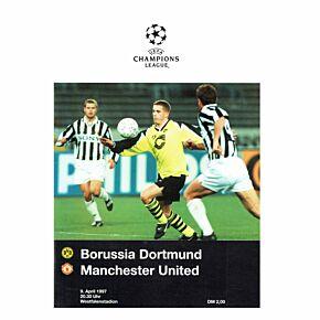 Borussia Dortmund vs Man Utd Champions League Semi-Final 1st Leg at Westfalenstadion - April 9, 1997