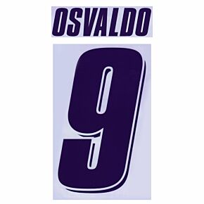 Osvaldo 9 - 07-08 Fiorentina Away Cut-out Vinyl Transfer