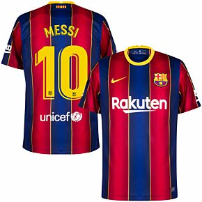 20-21 Barcelona Home KIDS Shirt + Messi 10
