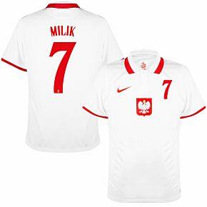 20-21 Poland Home Shirt + Milik 7 (Official Printing)