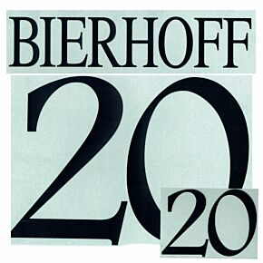 Bierhoff 20 - 1996 Germany Home Name and Number Transfer