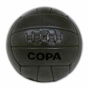 Copa Retro Leather Football - Black (Size 5)