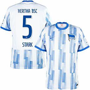 21-22 BSC Hertha Berlin Home Shirt + Stark 5 (Official Printing)