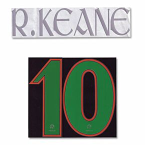 Keane 10 (no front number) - 04-06 Ireland Away Name and Number Transfer - No Front Number