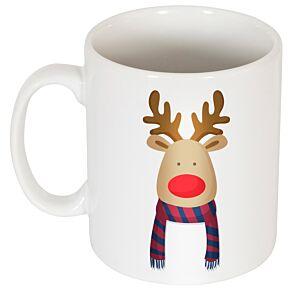 Reindeer Supporter Mug - Dark Red/Blue