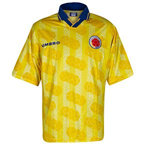 Umbro Colombia 1994-1996 No.17 Home Match Issue Jersey- USED Condition - Size Small