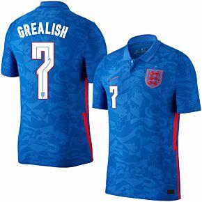 20-21 England Vapor Match Away Shirt + Grealish 7 (Official Printing)