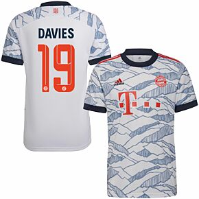 21-22 Bayern Munich 3rd Shirt + Davies 19 (Official Printing)