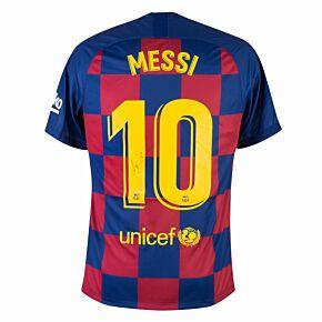 Lionel Messi Back Signed Barcelona Home 19-20 Shirt - (La Liga Champions Edition)