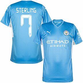 21-22 Man City Home Shirt + Sterling 7 (Cup Printing)