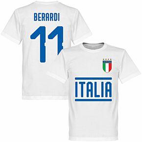 Italy Berardi 11 Team T-shirt - White