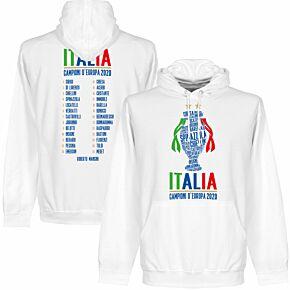 Italia Champions of Europe 2020 Squad KIDS Hoodie - White