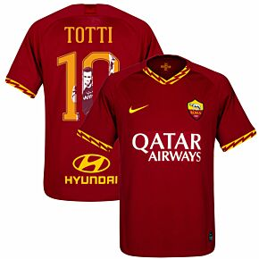 Nike AS Roma Home Totti 10 Jersey 2019-2020 (Gallery Style Printing)