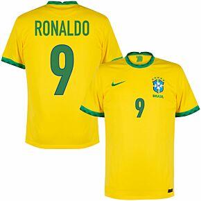 20-21 Brazil Home Shirt + Ronaldo 9 (Fan Style)