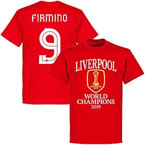 Liverpool World Club Champions 2019 Firmino 9 T-shirt - Red