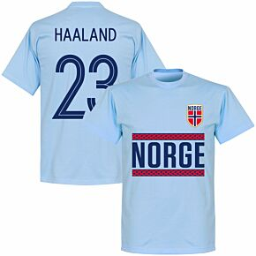 Norway Haaland 23 Team T-shirt - Sky Blue