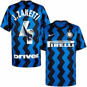 20-21 Inter Milan Home Shirt + Zanetti 4 (Gallery Style)
