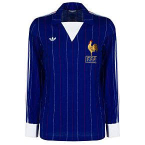 adidas France 1980-1982 Home L/S Jersey - USED condition (Good) - Extremely Rare - Size Small Boys