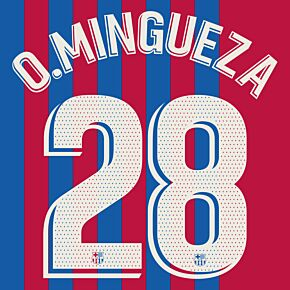O.Mingueza 28 (Official Printing) - 21-22 Barcelona Home