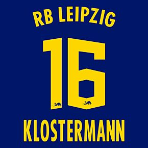 Klostermann 16 (Official Printing) - 20-21 RB Leipzig Away