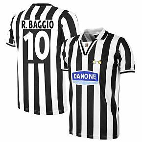 Copa Juventus Home Retro Shirt  1994-1995 + R. Baggio 10