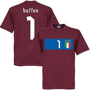 Italy Buffon Banner Tee - Maroon