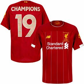 19-20 Liverpool Home P/L Champions Shirt + Champions 19 (Gallery Style)
