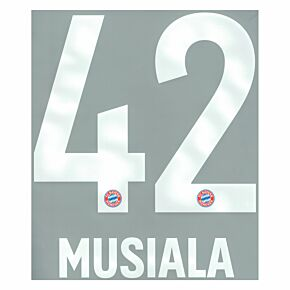 Musiala 42 (Official Printing) - 20-21 Bayern Munich Home