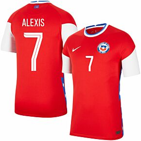 20-21 Chile Home Shirt + Alexis 7 (Fan Style Printing)
