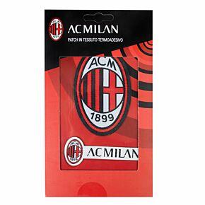 AC Milan Iron on Patch Twin Set (9 x 6cm/8 x 2cm Approx)